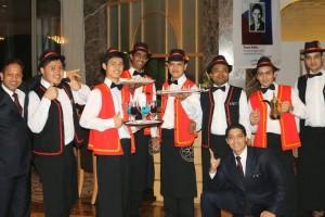 zaměstananci hotelu Intercontinental